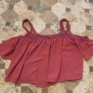 Rue 21 off the shoulder cropped blouse